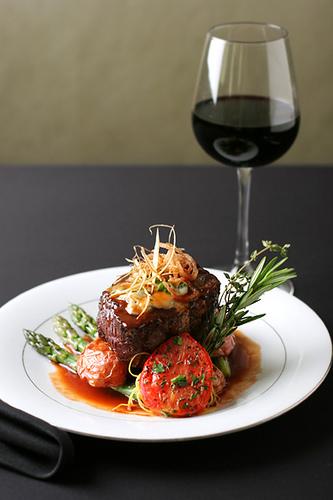 red wine steak